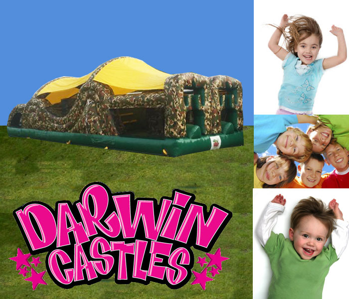 Camouflage Obstacle Course Jumping Castle