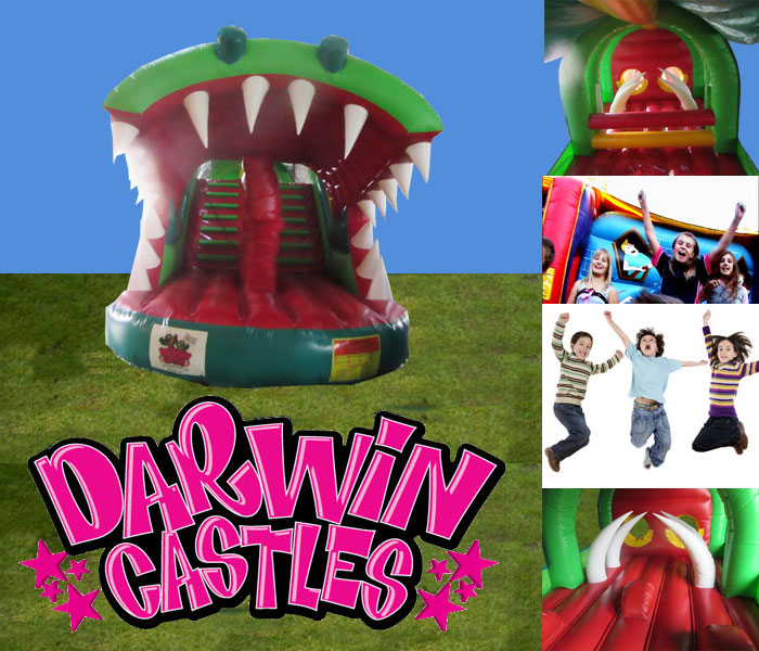 Crocodile Obstacle Course Jumping Castle